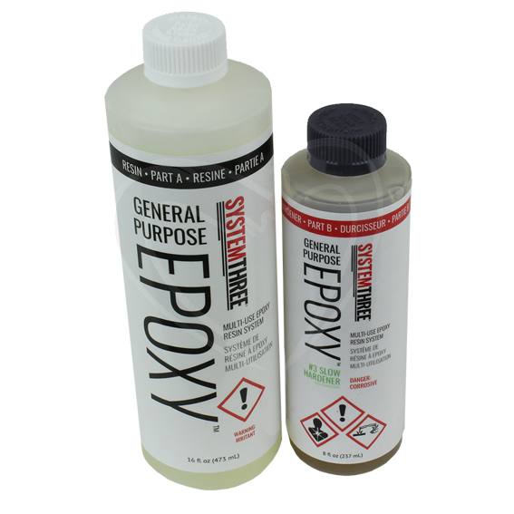 System Three General Purpose Epoxy Kit w/#3 Slow Hardener - 1-1/2 Pint