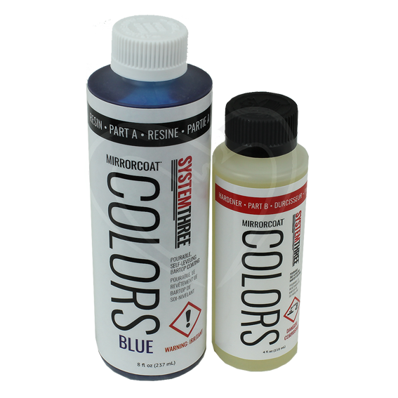 System Three Mirrorcoat Colors Finish Kit - Blue - 12 oz