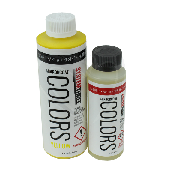 System Three Mirrorcoat Colors Finish Kit - Yellow - 12 oz