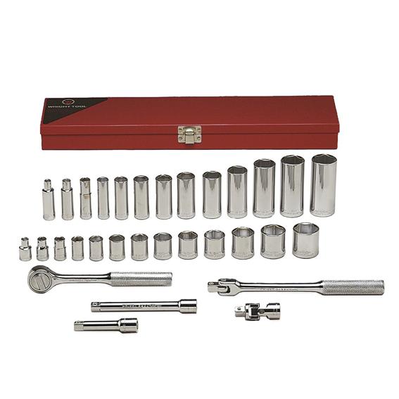 Wright Tool #339 31 Pc  3/8 Inch Drive 6 Pt  Standard & Deep Socket Set