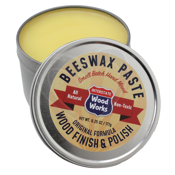 Interstate Woodworks Beeswax Paste Wood Finish & Polish - Open Can