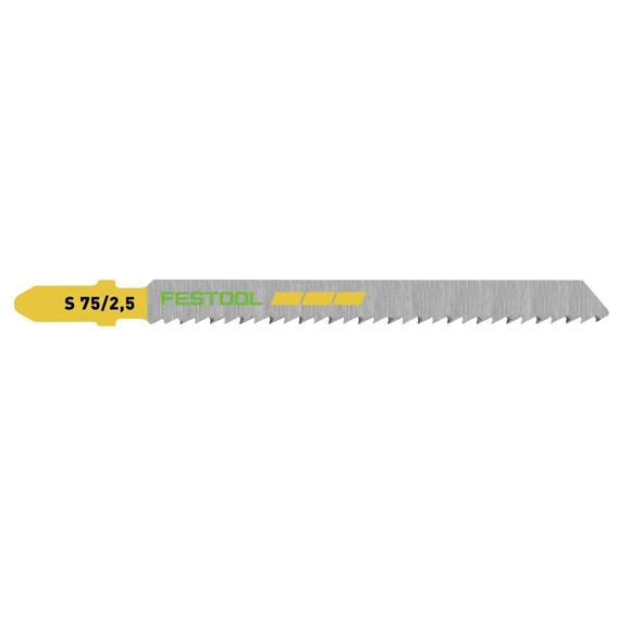 Festool 204257 S 75/2.5/25 Fine Cut Wood Cutting Jig Saw Blades, 25 ct