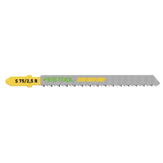 Festool 204259 S 75/2.5 R/5 Fine Cut Wood Cutting Jig Saw Blades, 5 ct