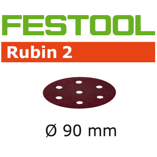 Festool 499084 Rubin 2 P220 Disc Abrasives - 90mm - 50 Pk
