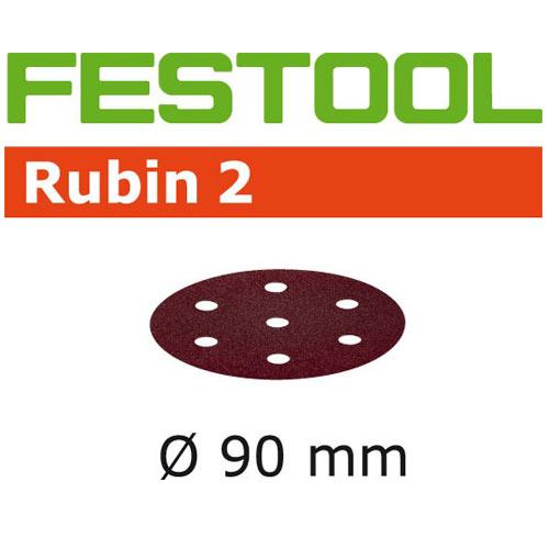 FESTOOL RUBIN 2 P220 DISC ABRASIVES - 90MM - 50 PK