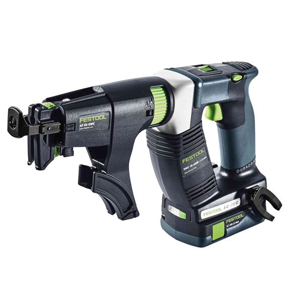Festool 575757 DWC 18-4500 Li-Ion Cordless Drywall Gun I-Compact - 3 1 Ah