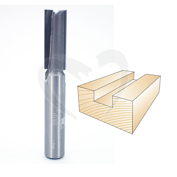 Whiteside Router Bits 1039 Straight Bit with 3//8-Inch Cutting Diameter and 1-Inch Cutting Length