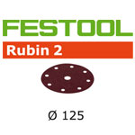 FESTOOL  499094 RUBIN 2 P60 DISC ABRASIVES - 125MM - 50 PK.