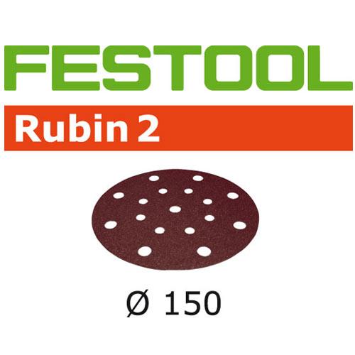 Festool 499109 Rubin 2 P40 Disc Abrasives - 150mm - 10 Pk