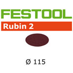 Festool 499087 Rubin 2 115mm P80 Disc Abrasives, 50 ct
