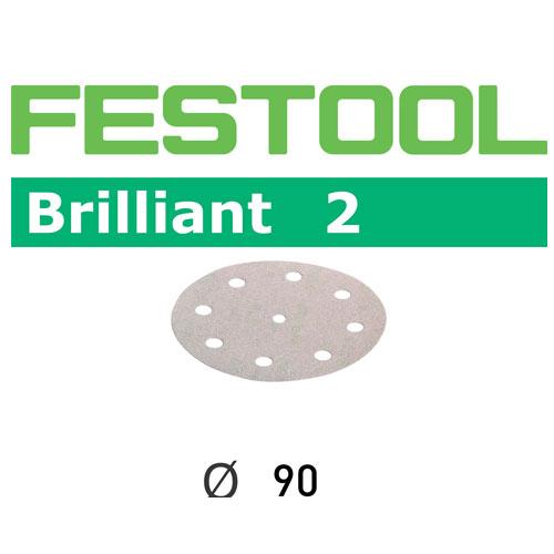 FESTOOL BRILLIANT 2 P100 DISC ABRASIVES - 90MM - 100 PK