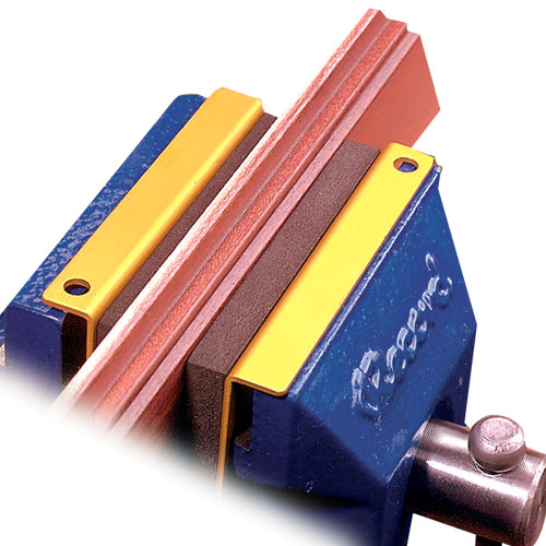 Soff Jaws Bench Vise Foam Pads - In Use