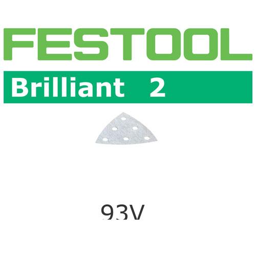 Festool 492884 Brilliant 2 P60 Delta Abrasives - 93mm - 50 Pk
