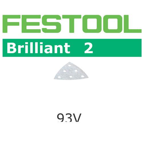 Festool 492888 Brilliant 2 P150 Delta Abrasives - 93mm - 100 Pk