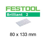 Festool 492862 Brilliant 2 P180 Sheet Abrasives - 80 x 133mm - 10 Pk.