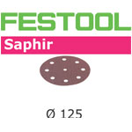 Festool 493127 125mm Saphir P80 Disc Abrasives, 25 ct