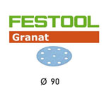 Festool 497364 90mm Granat P60 Disc Abrasives, 50 ct