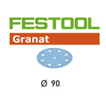 Festool 497365 90mm Granat P80 Disc Abrasives, 50 ct