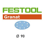 Festool 497366 90mm Granat P100 Disc Abrasives, 100 ct