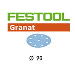 Festool 497367 90mm Granat P120 Disc Abrasives, 100 ct