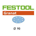 Festool 497368 90mm Granat P150 Disc Abrasives, 100 ct