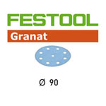 Festool 497369 90mm Granat P180 Disc Abrasives, 100 ct
