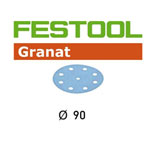 Festool 497370 90mm Granat P220 Disc Abrasives, 100 ct