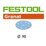 Festool 497371 90mm Granat P240 Disc Abrasives, 100 ct