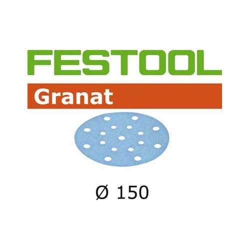 FESTOOL #496979 GRANAT P120 DISC ABRASIVES - 150MM - 100 PK