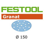 FESTOOL 496979 GRANAT P120 DISC ABRASIVES - 150MM - 100 PK.