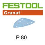 Festool 497132 Granat P80 Delta Abrasives - 100 x 150mm - 10 Pk.