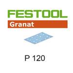Festool 497120 Granat P120 Sheet Abrasives - 80 x 133mm - 100 Pk.