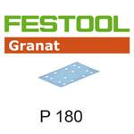 Festool 497122 Granat P180 Sheet Abrasives - 80 x 133mm - 100 Pk.