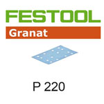 Festool 497123 Granat P220 Sheet Abrasives - 80 x 133mm - 100 Pk