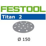 FESTOOL  496630 TITAN 2 P60 DISC ABRASIVES - 150MM - 50 PK.
