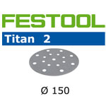 FESTOOL  496633 TITAN 2 P120 DISC ABRASIVES - 150MM - 100 PK.