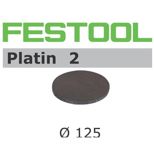 Festool 492374 125mm Platin 2 S500 Disc Abrasives, 15 ct
