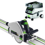 FESTOOL TS 55 REQ PLUNGE-CUT SAW IMPERIAL & CT MINI EXTRACTOR PACKAGE