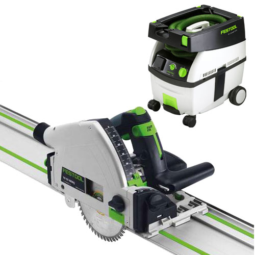 FESTOOL TS 55 REQ PLUNGE-CUT SAW IMPERIAL & CT MIDI EXTRACTOR PACKAGE