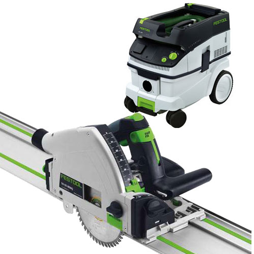 FESTOOL TS 55 REQ PLUNGE-CUT SAW IMPERIAL & CT 26 E EXTRACTOR PACKAGE