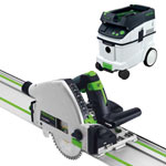FESTOOL TS 55 REQ PLUNGE-CUT SAW IMPERIAL & CT 36 E EXTRACTOR PACKAGE
