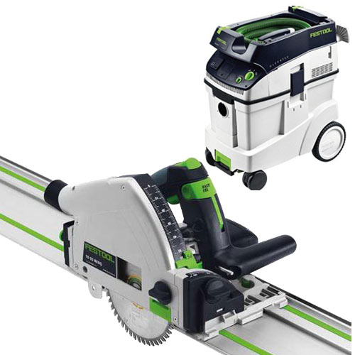 FESTOOL TS 55 REQ PLUNGE-CUT SAW IMPERIAL & CT 48 E EXTRACTOR PACKAGE