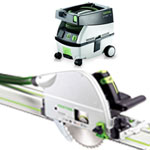 FESTOOL TS 75 EQ PLUNGE-CUT SAW IMPERIAL & CT MINI EXTRACTOR PACKAGE
