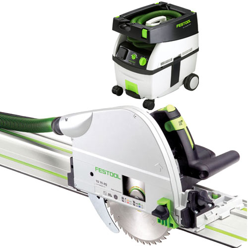 FESTOOL TS 75 EQ PLUNGE-CUT SAW IMPERIAL & CT MIDI EXTRACTOR PACKAGE