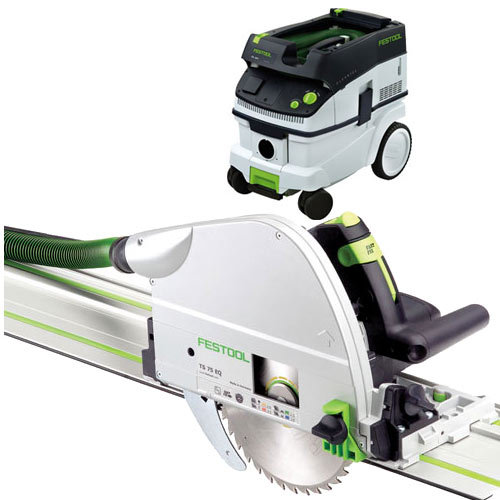 FESTOOL TS 75 EQ PLUNGE-CUT SAW IMPERIAL & CT 26 E EXTRACTOR PACKAGE