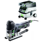 FESTOOL PS 420 EBQ CARVEX BARREL GRIP JIGSAW & CT MINI EXTRACTOR PACKAGE