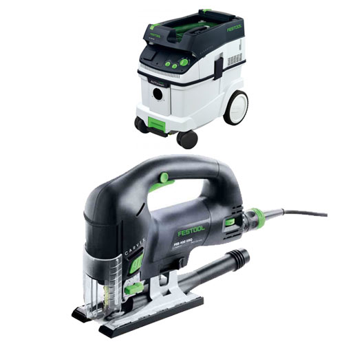 FESTOOL PSB 420 EBQ CARVEX D-HANDLE JIGSAW & CT 36 E EXTRACTOR PACKAGE