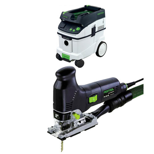 FESTOOL PS 300 EQ TRION BARREL GRIP JIGSAW & CT 36 E EXTRACTOR PACKAGE