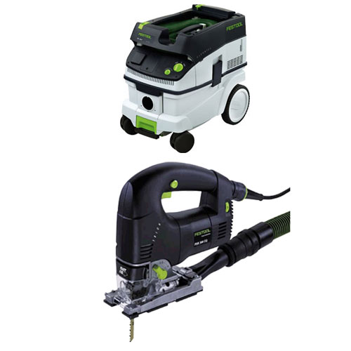 FESTOOL PSB 300 EQ TRION D-HANDLE JIGSAW & CT 26 E EXTRACTOR PACKAGE