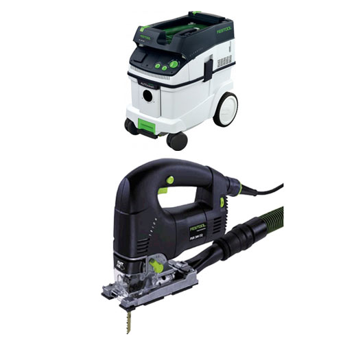 FESTOOL PSB 300 EQ TRION D-HANDLE JIGSAW & CT 36 E EXTRACTOR PACKAGE